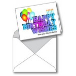 Notecard: Happy Birthday From Church School