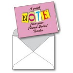 Notecard: Quick Note from Church School Teacher